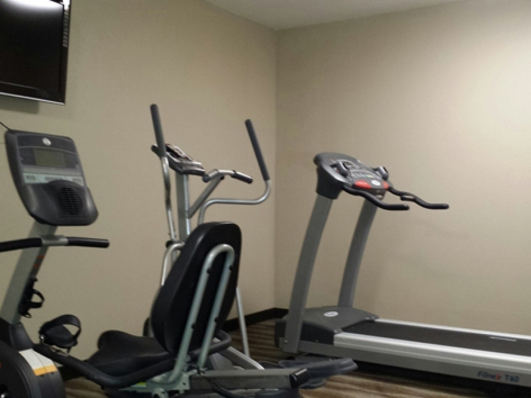 Work out in our updated fitness room